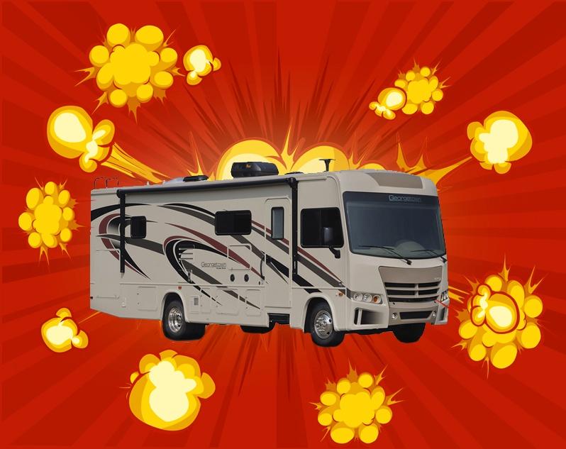 Blue Dog RV Popcorn 500 Geargetown Motorhome