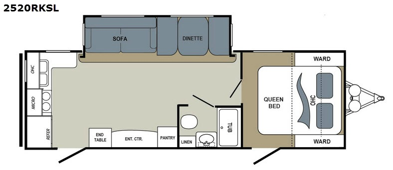 Dutchmen Aerolite 2520RKSL Travel Trailer Floorplan