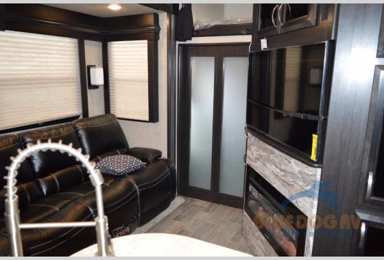 Dutchmen Voltage Fifth Wheel Toy Hauler Living Area