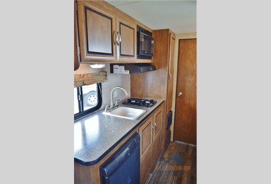Forest River Wildwood X-Lite Travel TRailer Kitchen