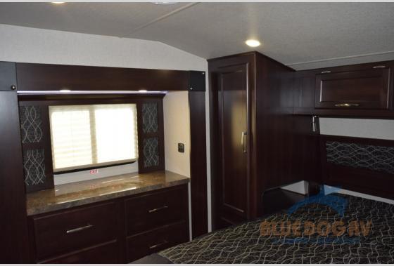 Genesis Supreme Fifth Wheel Toy Hauler Bedroom