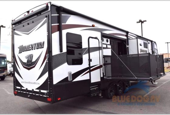 Grand Design Momentum Fifth Wheel Toy Hauler Side Porch