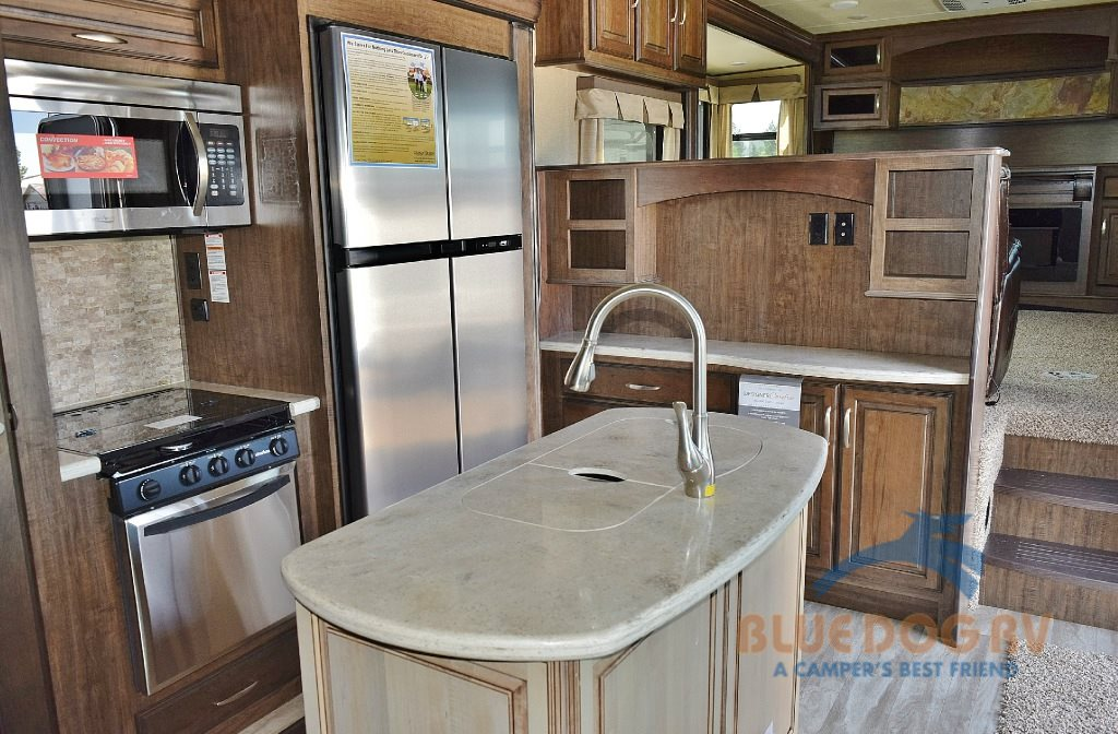 Grand Design Solitude 379FL Front Living Fifth Wheel Kitchen