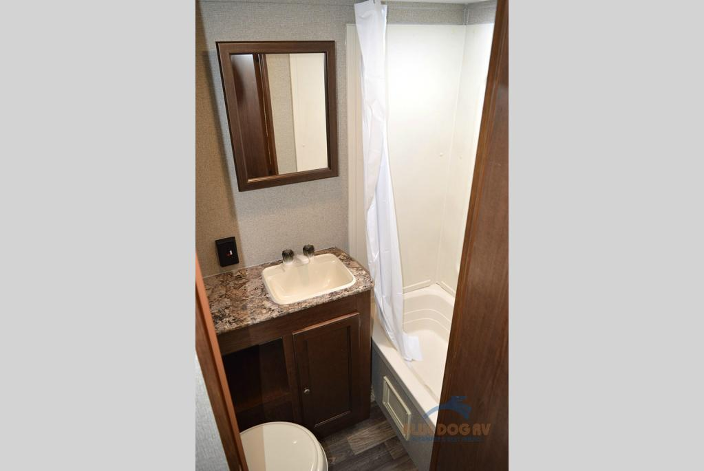 Keystone Hideout Single Axle Travel Trailer Bathroom