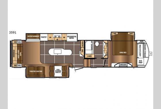 Prime Time Sanibel 3591 Fifth Wheel Floorplan