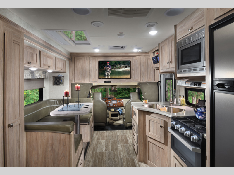 kitchen in forester motorhomee