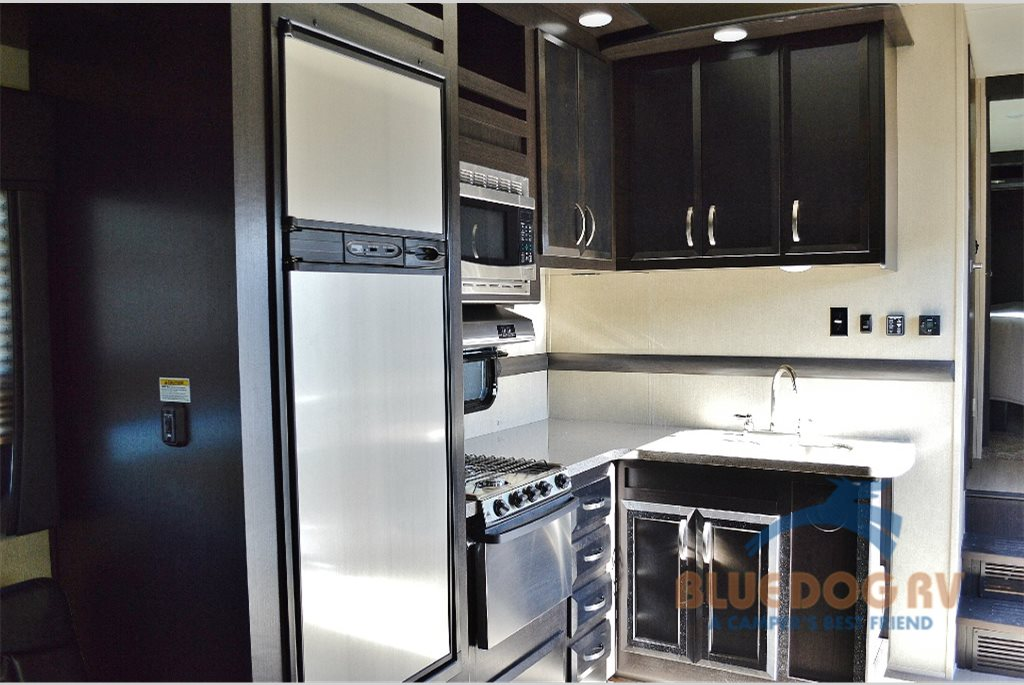Dutchmen Triton Toy Hauler Fifth Wheel Kitchen
