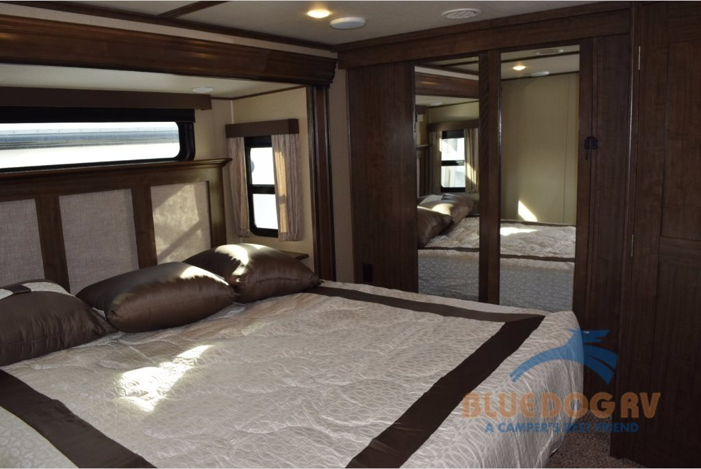 Grand Design Solitude Fifth Wheel Master Bedroom